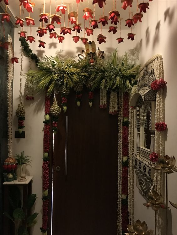 entrance, diwali, decor, india, styling